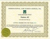 IASC certifikat. Klicka för att se en större bild.